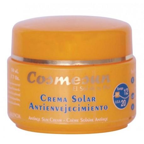 CREMA SOLAR ANTIENVEJECIMIENTO FP12/20. C. 50 ml.