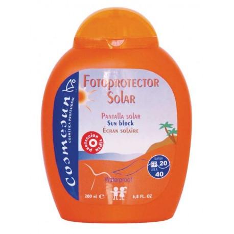 PANTALLA SOLAR FOTOPROTECTORA FP20/40 . C. 200 ml.