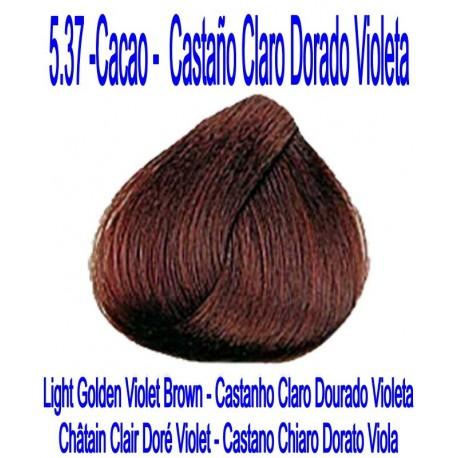 1861ac6df74a 5.37 CACAO - LIGHT GOLDEN VIOLET BROWN - Cosmesun Cosmetica profesional